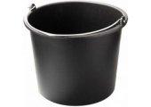 Ведро чёрное 12 литров с ручкой