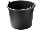 Ведро чёрное 16 литров с ручкой