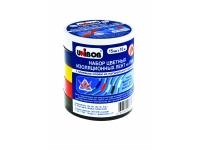 Набор электроизоляционных клейких лент 15мм х 10м, 5шт/упаковка (ассортимент из 5 цветов)