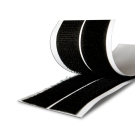 Лента липучка самоклеящаяся черная