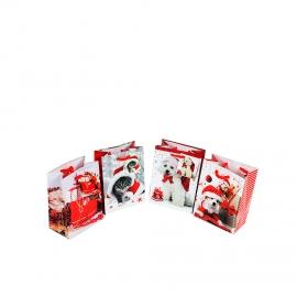 Набор подарочных пакетов Новогодний 4 штуки