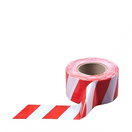 Лента сигнальная бело-красная №1