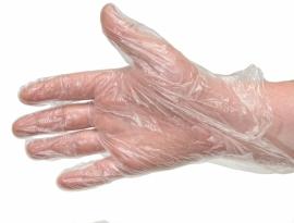 Перчатки одноразовые, упаковка 100шт