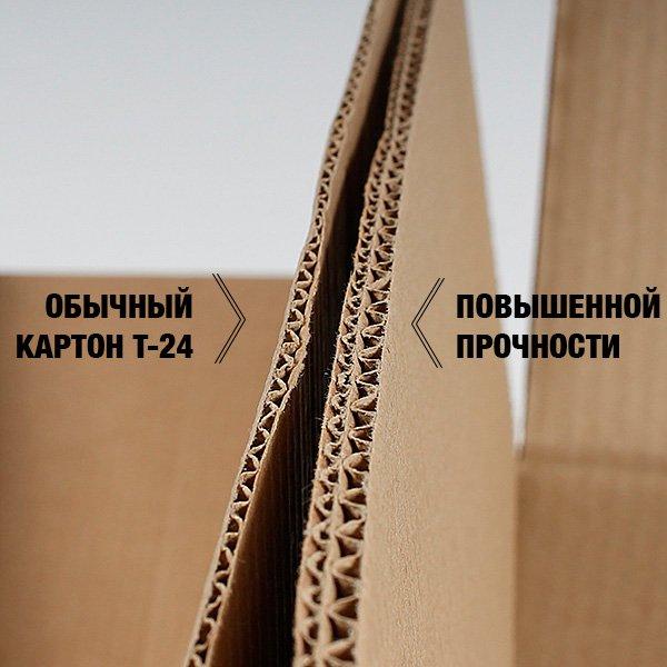 Сравнительная фотография стенки обычной коробки и усиленной